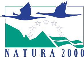 Die Vogelschutzgebiete sind mit dem NATURA 2000-Logo gekennzeichnet. Natura 2000 ist ein EU-weites Netz von Schutzgebieten zur Erhaltung gefährdeter oder typischer Lebensräume und Arten.